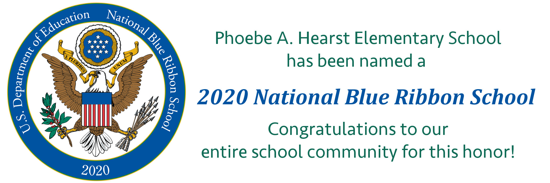 Phoebe A. Hearst - National Blue Ribbon School